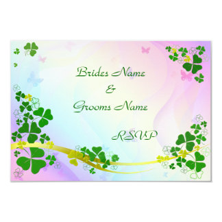 Happy Shamrock RSVP cards Personalized Announcements