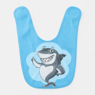 Happy shark baby bibs