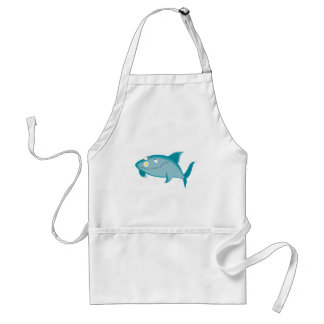 happy shark with flower standard apron