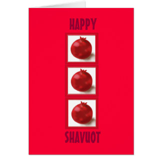 HAPPY SHAVUOT Pomegranate Trendy Hebrew Card