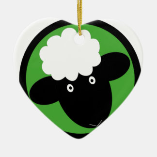 Happy Sheep Christmas Ornament