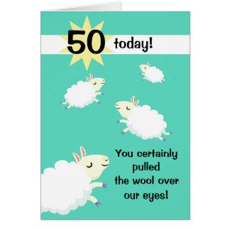 Happy Sheep Customisable Birthday card