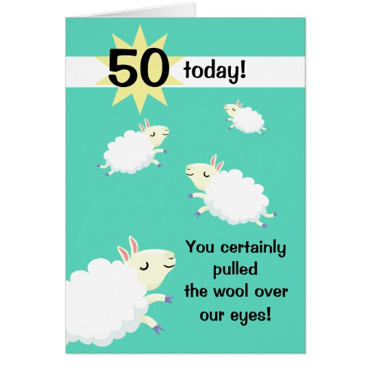 Happy Sheep Customisable Birthday card
