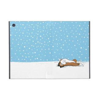 Happy Shetland Sheepdog in the Snow Case For iPad Mini