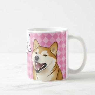 "Happy Shiba Inu Japanese ""Dogs are Love"" Coffee Mug"