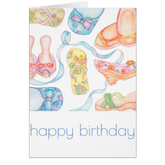 Happy shoes birthday card