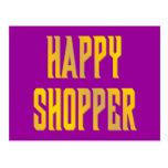 happy shopper postkarte