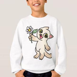 Happy Siamese cat holding Daisy Sweatshirt