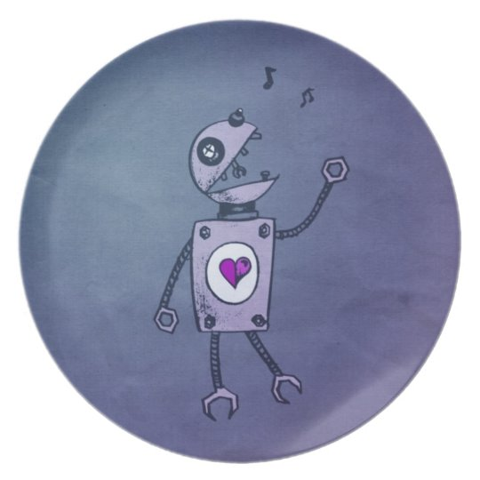 Happy Singing Robot Plate