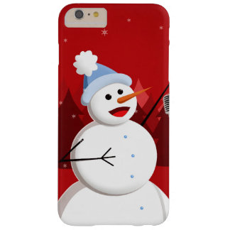 Happy Singing Snowman Christmas Barely There iPhone 6 Plus Case