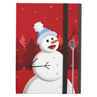 Happy Singing Snowman Christmas Kickstand iPad Covers