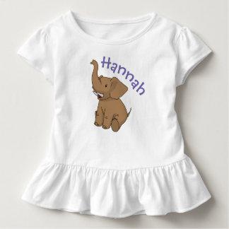 Happy Sitting Elephant Personalized Child's Shirt