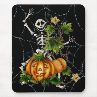 HAPPY SKELETON & JACK by SHARON SHARPE Mouse Mat