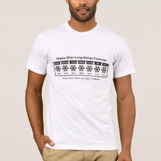 Happy Skier Forecast T-Shirt