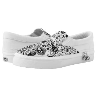 happy skull calaverita Slip-On shoes