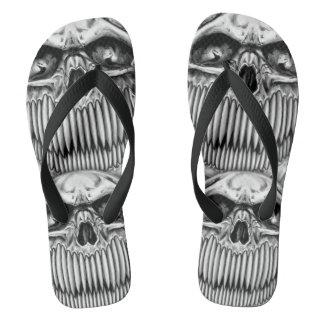 Happy Skull Flip Flops