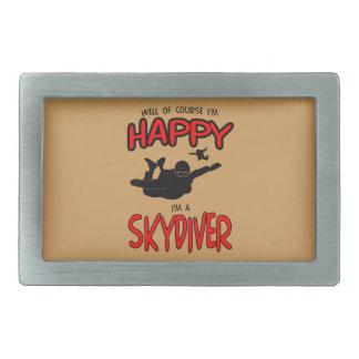 Happy Skydiver (blk) Belt Buckles