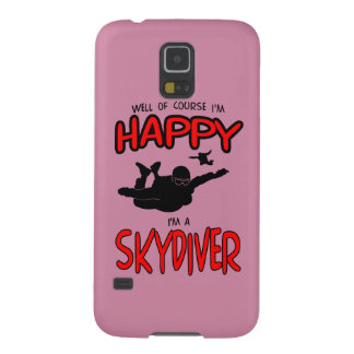 Happy Skydiver (blk) Cases For Galaxy S5