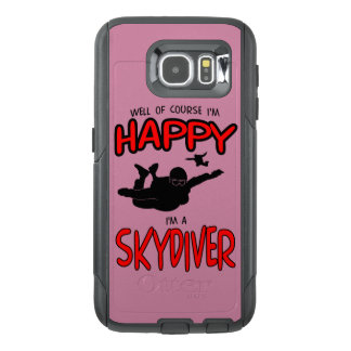Happy Skydiver (blk) OtterBox Samsung Galaxy S6 Case