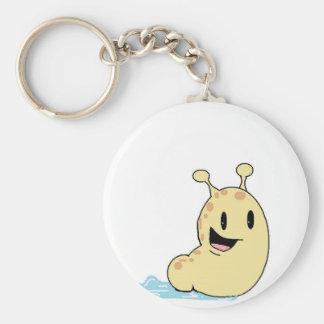 happy slug basic round button key ring
