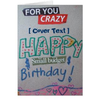 Happy Small Budget Birthday Customized Greeting Card