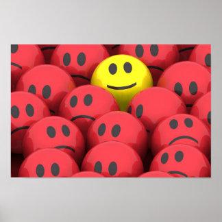Happy Smiley Cartoon Canvas Print