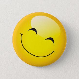 Happy Smiley Emoji Face Cute Cartoon Character 6 Cm Round Badge