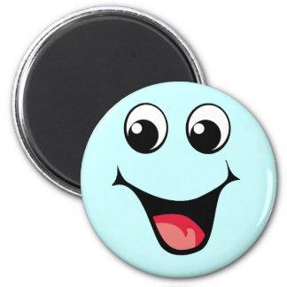 Happy Smiley Emoticon 6 Cm Round Magnet