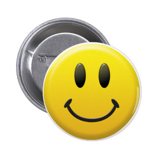 Happy Smiley Face 6 Cm Round Badge
