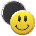 Happy Smiley Face 6 Cm Round Magnet
