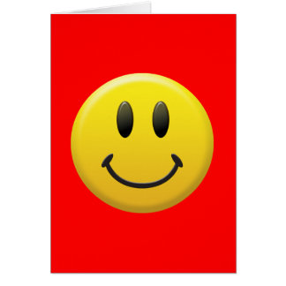 Happy Smiley Face Card