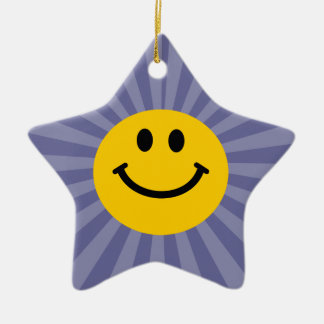 Happy Smiley Face Christmas Ornament