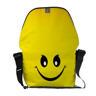 Happy Smiley Face Courier Bags