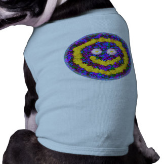 Happy Smiley Face Dandelion Flowers Sleeveless Dog Shirt