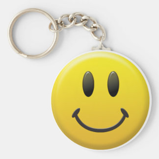 Happy Smiley Face Key Chain