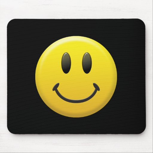 Happy Smiley Face Mouse Mats