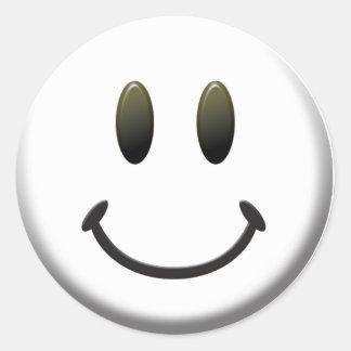 Happy Smiley Face Round Sticker