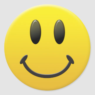Happy Smiley Face Round Sticker