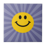 Happy Smiley Face Small Square Tile