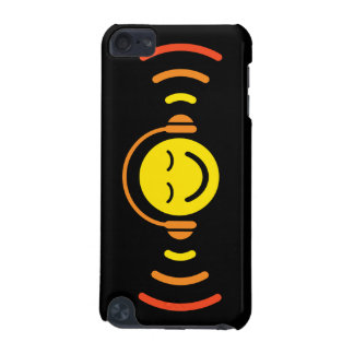 Happy smiley face with headphones music iPod case iPod Touch (5th Generation) Case