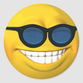 Happy Smiley Face With Sunglasses Sticker