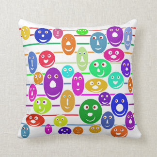 Happy Smiley Faces Cushion