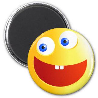 Happy Smilie 6 Cm Round Magnet