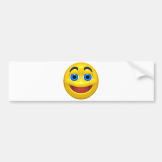 Happy smilie smiley car bumper sticker