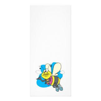 happy smiling cartoon bee custom rack card