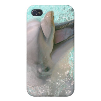 Happy Smiling Dolphin Cases For iPhone 4