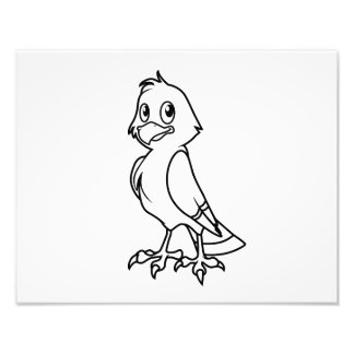 Happy Smiling Eaglet Black and White Cards Photograph