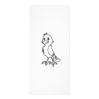 Happy Smiling Eaglet Black and White Rack Card Template
