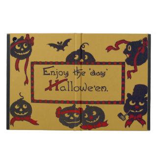 Happy Smiling Jack O' Lantern Pumpkin Bat iPad Air Cases