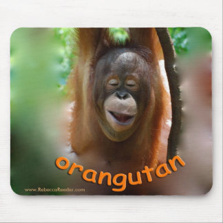 Happy Smiling Orangutan Mouse Mat